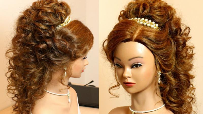 آموزش آرایش موی زنانه شینیون رمانتیک با فر برای موهای